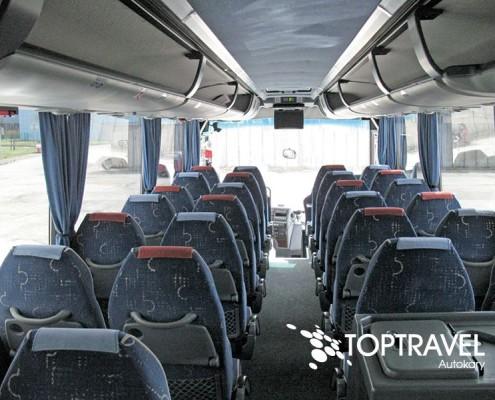 Wynajem autokarów TOP TRAVEL Warszawa - Bova multimedia