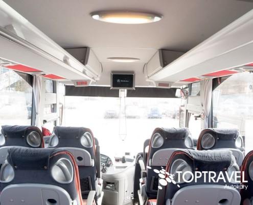 Autokar wynajem - Mercedes Tourismo multimedia TOP TRAVEL
