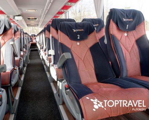 Autokar wynajem - Mercedes Tourismo komfort TOP TRAVEL