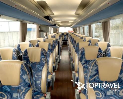 Wynajem luksusowych autokarów VDL New Futura - TOP TRAVEL -wnętrze
