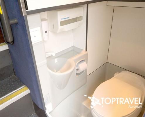 Wynajem luksusowych autokarów VDL New Futura - TOP TRAVEL - toaleta WC